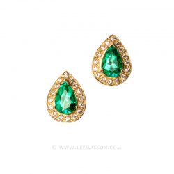 Colombian Emerald Earrings 19551