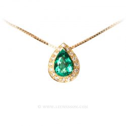 Colombian Emerald Pendant 19552