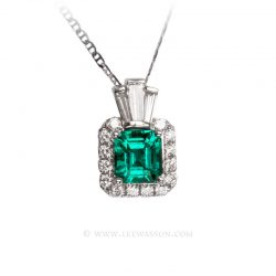Colombian Emerald Pendant 19680