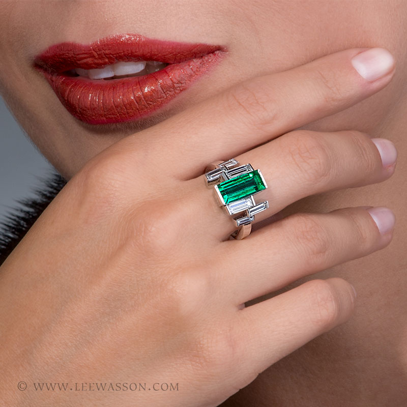 Colombian Emerald Ring Emerald Cut Emerald Engagement