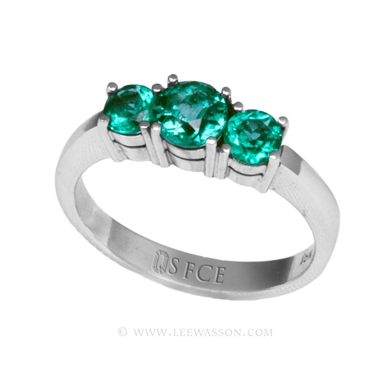 Colombian Emerald Ring, Brilliant Cut Emerald, Over 1.00 Carat, leewasson.com - 19687 - 2