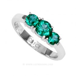 Colombian Emerald Ring, Brilliant Cut Emerald, Over 1.00 Carat, leewasson.com - 19687 - 3