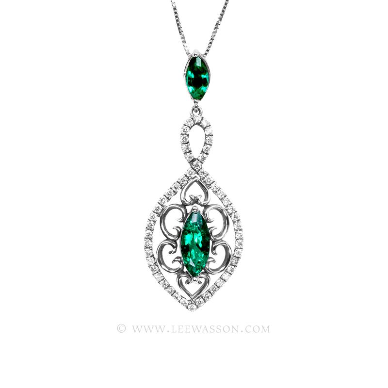 19701-white-gold-Emerald-pendant-lee-wasson