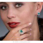 Colombian Emerald Ring, Asscher cut Emerald - Photo session - leewasson.com - 19703 - 6