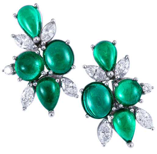 Colombian Emeralds Cabochon Rings - Lee Wasson