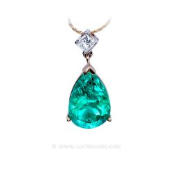 Colombian Emerald Pendant 19704 - Lee Wasson