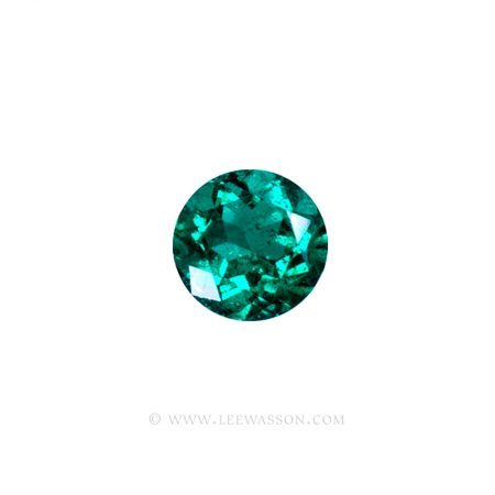 19737- Round Brilliant Cut Emerald | Lee Wasson